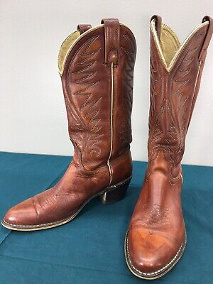 VTG Acme Brown Leather Womens Western Cowgirl Boots sz 6.5 B Used 70s 80s