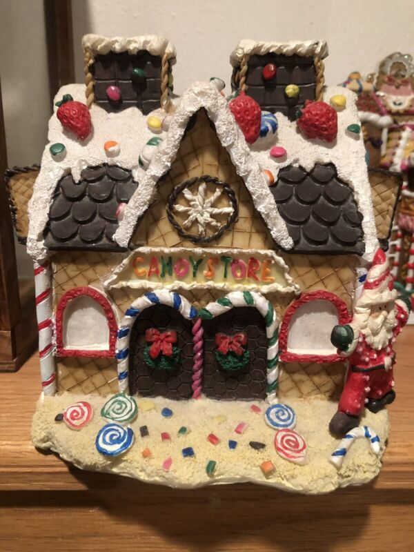 Santa Candy Store Gingerbread House