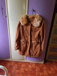 Brown coat with fur collar Balcatta Stirling Area Preview