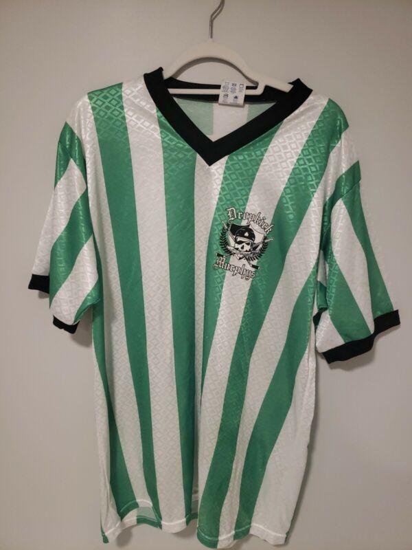 DROPKICK MURPHYS Graphic Logo 04 Tour Striped Soccer Jersey Mens XL Green Boston