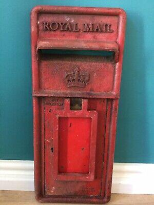 GENUINE SCOTTISH CAST IRON POST BOX FRONT ROYAL MAIL MACHAN SCOTLAND ORIGINAL