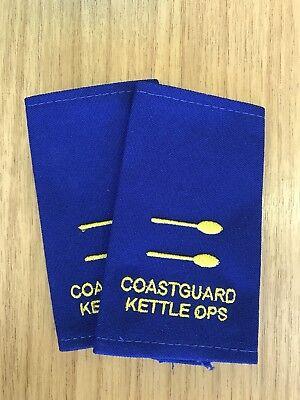 Epaulettes FUNNY Coastguard 2 TEASPOON rank Tea Kettle Slides Sliders GIFT
