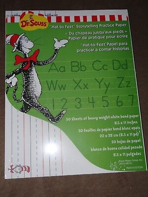 Dr. Seuss The Cat In The Hat Storytelling Practice Paper-50 Sheets-8.5