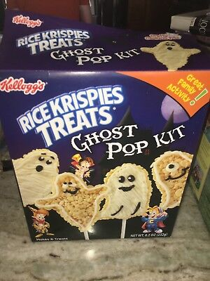 Rice Krispies Halloween Ghost Pop - Halloween Rice Krispie Pops