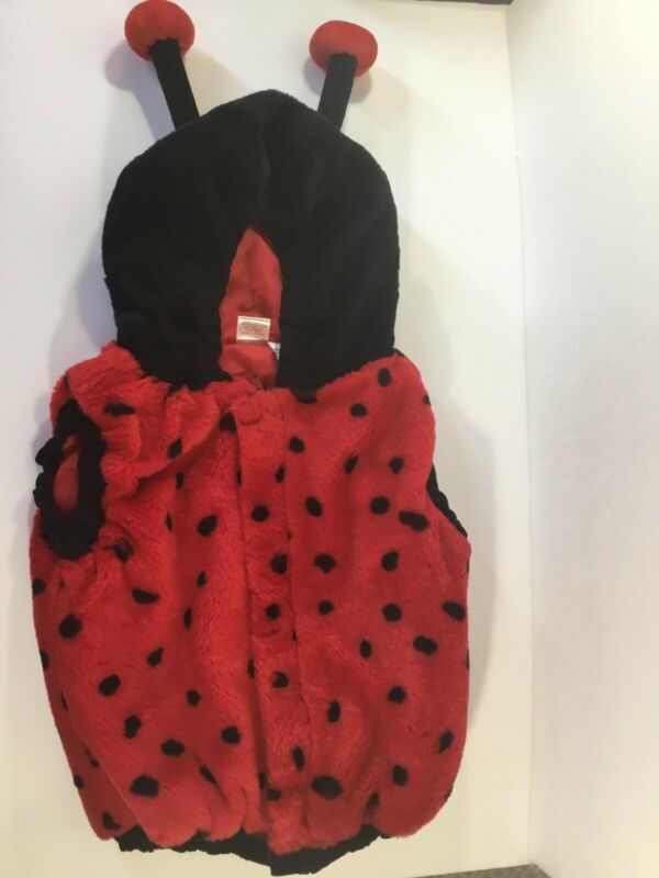 Ladybug Toddler Plush Faux Fur Halloween Dress Up Costume One Piece 12-24 Months