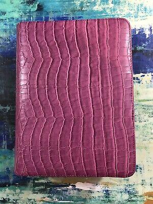 Franklin Covey Zipper Binder 8 X 10 12 Magenta Color. Read Description