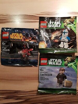 LEGO Star Wars Clone Trooper, Darth Revan, Han Solo 5001709 5002123 5001621 NEU ()
