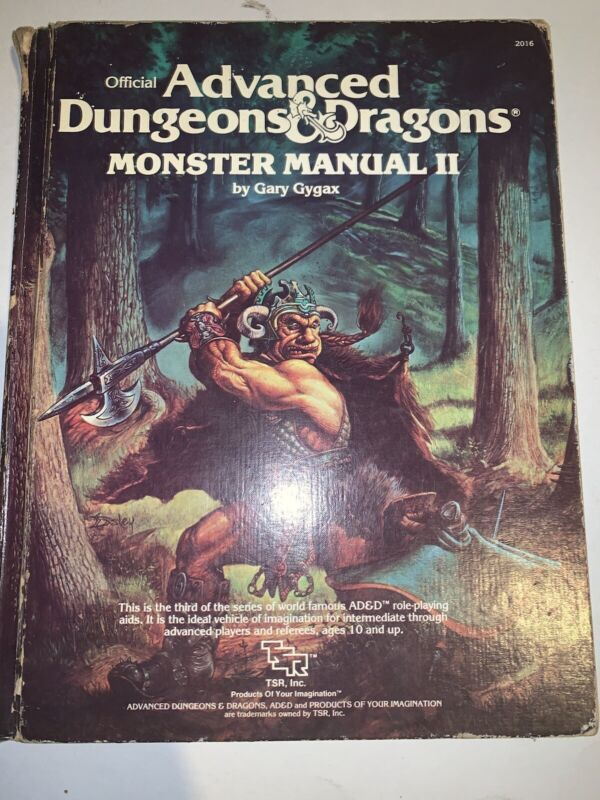 Advanced Dungeons And Dragons Monster Manual II 2, 1983, AD&D TSR 2016