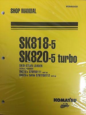 Komatsu Service Sk818-5 Sk820-5 Turbo Skid Steer Shop Manual