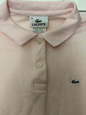 Lacoste Youth Short Sleeve Polo Shirt Pink S