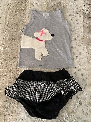 Victoria Kids Boutique Baby Girl Puppy Outfit Size 18-24 months