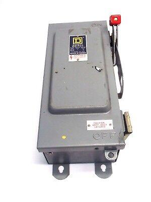 Square D Hu-361-awk-ei Series E1 30 Amp Single Pull Safety Switch 600v Ac Dc