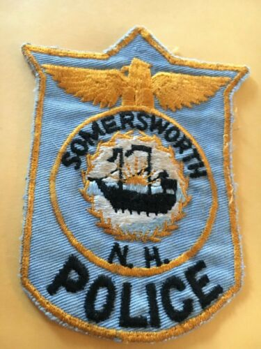 Somersworth New Hampshire Vintage Police Patch version 2