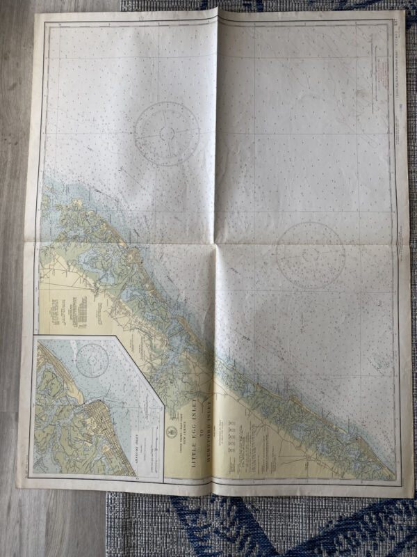 Original Nautical Chart Map Little Egg Inlet to Hereford Inlet  1217 Issued 1940