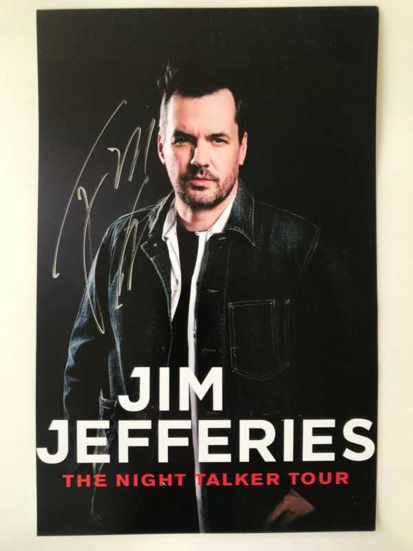 Autographed Jim Jeffries (Comedian) poster for the Night Talker Tour