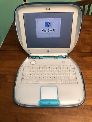 Apple iBook G3 300MHz M2453 Clamshell Blue Runs & Looks Great