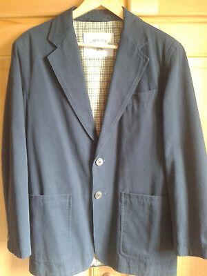 Casual-sakko (STONES CASUAL Sakko Jackett Gr. 46 dunkelblau Baumwolle Karofutter oversized)