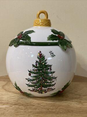 Vintage Spode Christmas Cookie Jar