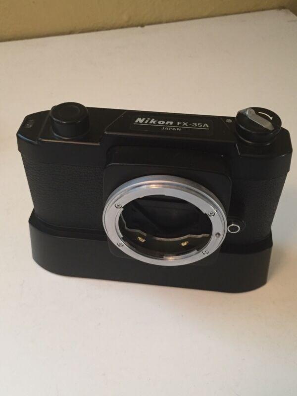 Nikon FX-35A 35mm SLR Film Microscope Camera Body - with Autowinder