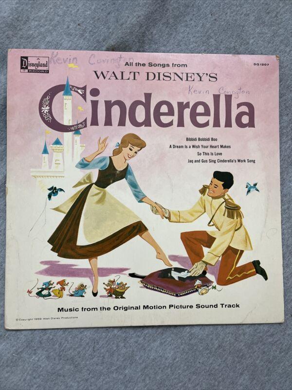 "Walt Disneys ""Cinderella"" vinyl 1963 DQ1207 music from original soundtrack"