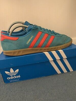Adidas Originals Hamburg Blue & Red Size UK9 DEADSTOCK RARE STOCKHOLM