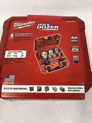 Milwaukee 49-22-4076 8 Pc Welders Bi-metal Hole Saw Kit - In Stock