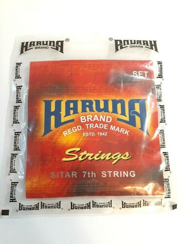 Sitar String Set Karuna Brand 7 Main Strings With Kharaj Pancham Without Tarabh