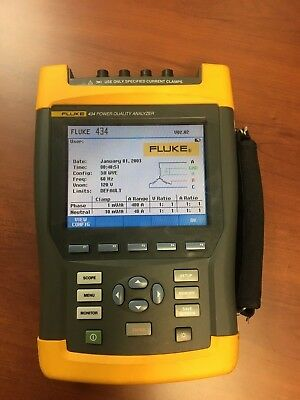 Fluke 434 Power Quality Analyzer Used