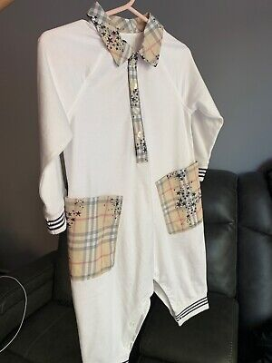 Authentic burberry kids white one piece boys size 12 months excellent condition