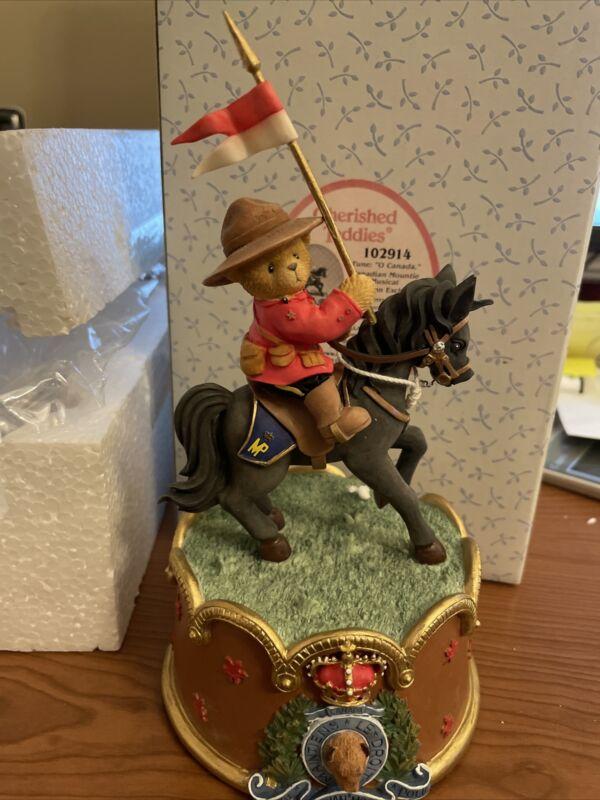 Cherished Teddies Canadian Mountie Musical #102914 NIB