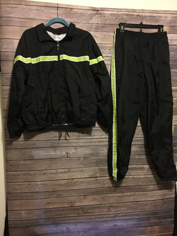 Rebecca Malone Vintage Windbreaker Track Suit Womens Size Large Pants Jacket