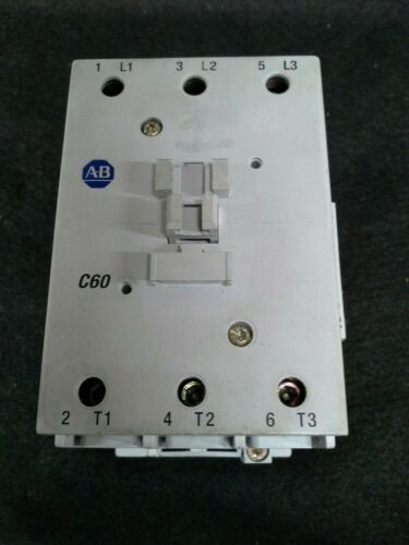 Allen-Bradley 100-C60*00 Ser. B Contactor 110/120V 50/60Hz Coil W/ 100-S AUX
