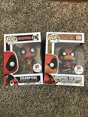 Funko POP! Marvel Deadpool Rubber Chicken 116 Deadpool The Duck 230 Walgreens