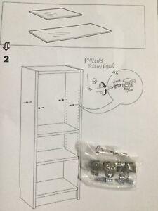 IKEA BILLY BESTA Bookshelf Glass Shelf Mounting Bracket Set Of 4 Instructions
