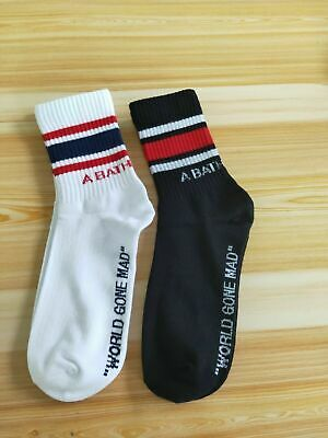 A Bathing Ape Bape Logo White Socks+black