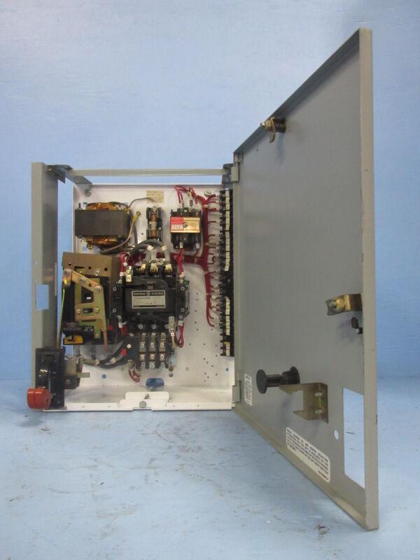 "General Electric GE 8000 Size 2 Starter 50 Amp Breaker Type 18"" MCC Bucket 50A"