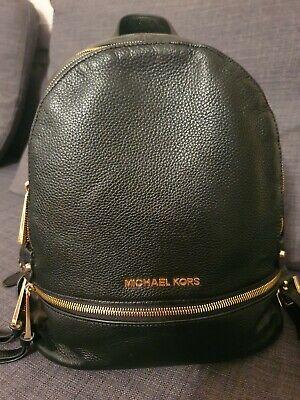 Genuine Michael Kors Black Leather Backpack