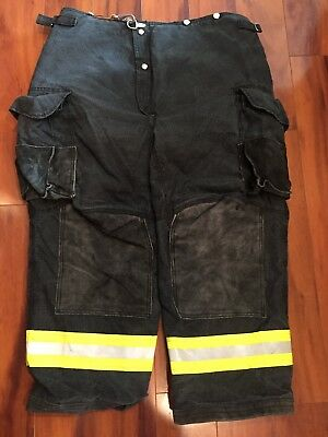 Firefighter Janesville Lion Apparel Turnout Bunker Pants 40x30 Black Costume