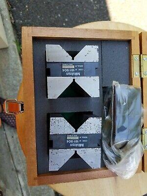 Mitutoyo Precision Inspection V Blocks Set Model 181-904