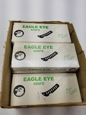 Eagle Eye Knife LOT OF 11 Brand New In Boxes Frost Cutlery 15-109B 4 Inch Blade