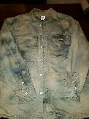 Zara Denim Shirt Jacket