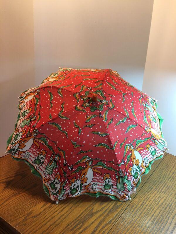 Vintage Child's Umbrella - Yogi Bear & Baloo - Shanghai