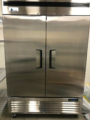 Commercial Freezer. Aurora Abf2 - Two Door Stainless Steel Freezer