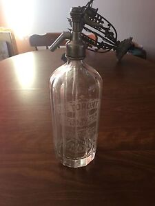 Vintage Toronto Soda water seltzer bottle