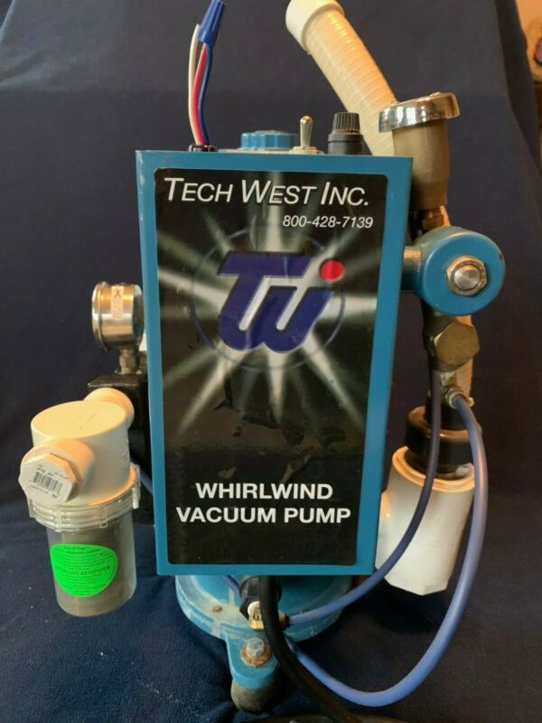 USED AND WORKING TECH WEST Dental Whirlwind Liquid Ring Vacuum 2 HP Pump VPL4S2