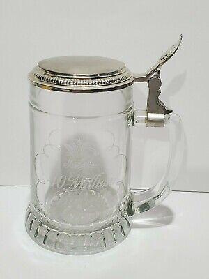 Anheuser Busch Budweiser 40 Million Barrels 1978 Glass Lidded Stein Collectible