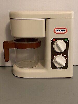 RARE VINTAGE LITTLE TIKES PLAY KITCHEN COFFEE MAKER & CARAFE POT COMPLETE SET