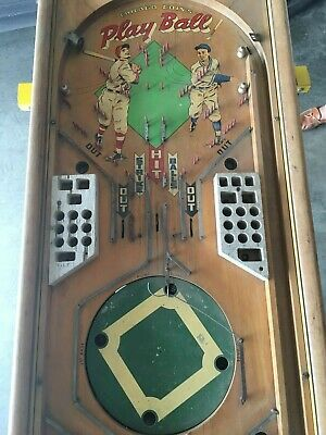 Vintage 1947 Chicago Coin Play Ball (Baseball) Pinball Machine Cabinet Only
