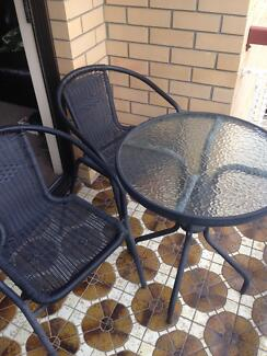 Bunnings outdoor table and 2 chairs