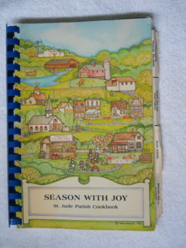 VINTAGE 1986 ST JUDE PARISH * LINCOLN RHODE ISLAND COOKBOOK LOCAL PEOPLE RECIPES